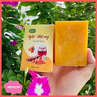 Combo 2 bánh xà bông nghệ và mật ong (2x100g) giúp sáng da ngừa mụn giảm thâm tặng lưới tạo bọt