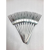 Bộ Nĩa ăn Inox thiết kế gân giữa (10 cái)