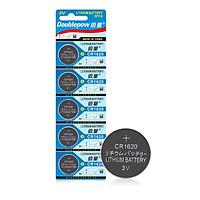 Vỉ 5 Viên Pin CR1620 Lithium Bettyry 3V Doublepow Dùng Cho Điều Máy Tính Cầm Tay, Điều Khiển, Cân Sức Khỏe, Đồng Hồ, Bo Mạch Chủ CMOS