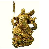 Tượng Quan Công Cưỡi Rồng bằng Đồng Thau cao 21.5 cm nặng 1500g -Phong thủy mang lại sự thịnh vượng, trí tuệ và tiền bạc trong kinh doanh