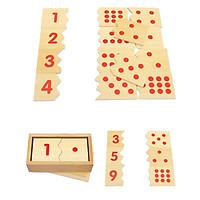 Giáo cụ Montessori - khớp số và chấm tròn, học số và lượng