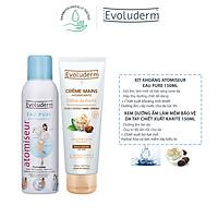 Combo xịt khoáng Evoluderm 150ml và Kem dưỡng ẩm làm mềm bảo vệ da Evoluderm 150ml