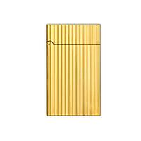 Hộp Qụet Bật Lửa Xăng DX06V Họa Tiết Kẻ Dọc Đẹp Độc Lạ Màu Vàng Sang Trọng - Dùng Xăng Bấc Đá
