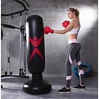 Trụ đấm boxing bơm hơi cao cấp tự đứng đế đổ nước có tặng kèm bơm hơi