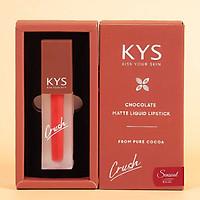 Son kem lì Kys Crush Chocolate Sensual Khử Chì Màu Đỏ Lạnh Số 02