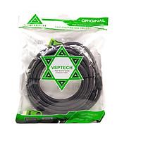 Cáp HDMI VSPTECH (1.4V) dài 20m bọc lưới đen - Hàng chính hãng