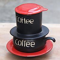 Bộ phin pha cafe 4 màu cao cấp gốm sứ Bát Tràng