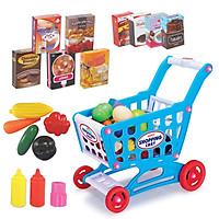 Bộ đồ chơi xe đẩy siêu thị  KAVY cho bé kèm xe đẩy tiện dụng, giáo dục tính sáng tạo và nhanh nhạy cho bé
