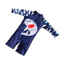Baby boy Swimsuit Cute Shark Jumpsuit Quick Dry Sunscreen Swimming Surfing Swimwear