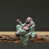 Tượng Phật Di Lạc Gốm Xanh
