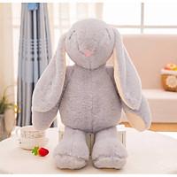 Gấu bông Thỏ tai dài đứng dễ thương 38cm màu xám nhạt