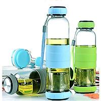 Bình Thủy Tinh Pha Trà Có Lưới Lọc Sling Glass 450ML - Tặng 1 hộp Fitin  Pack Hàng Nhật