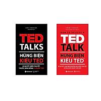 """Bộ Sách Hay Nhất Về Hùng Biện ( Hùng biện kiểu TED1: Bí quyết diễn thuyết trước đám đông """"chuẩn"""" TED + Hùng biện kiểu TED2: Bí quyết làm nên những bài diễn thuyết hứng khởi nhất thế giới ) tặng kèm bookmark Sáng Tạo"""