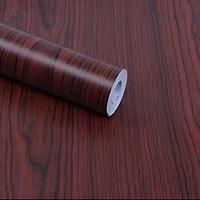 Giấy dán tường vân gỗ nâu khổ rộng 45cm (có keo sẵn)