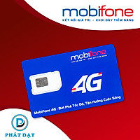 Sim 4G MOBIFONE 10 số C120 –120GB - (4Gb/ngày, Ngoại mạng 50p , Sim gọi nội mạng miễn phí 1000 phút không giới hạn) ,Giao số ngẫu nhiên – HÀNG CHÍNH HÃNG.