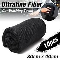 10Pcs Microfibers Towel Car Detailing Cleaning Soft Cloths Home Window Glass 30cmx40cm