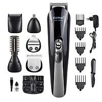 Bộ kit tông đơ đa năng 6in1 KEMEI KM-600 chuyên dùng để cắt tóc, chấn viền, cạo râu, tỉa lông mũi, cạo lông mày... kèm đế cất giữ tiện lợi
