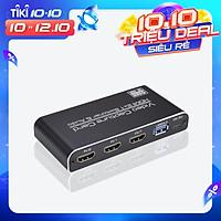 Bộ chuyển đổi NK-X6 HDMI sang USB3.0 2 trong 1 độ phân giải 4K 1080P tương thích với PS4/XBOX