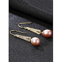 Bông Tai Ngọc Trai Cao Cấp B2331 Cỡ Hạt 8x9 Ly Bảo Ngọc Jewelry