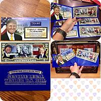 Tờ 2 USD in màu Donald Trump tổng thống Mỹ, thích hợp làm quà độc đáo - The Merrick Mint