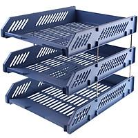 Dawn (M & G) ADM95179 office three-tier metal mesh file tray file box file frame file holder black