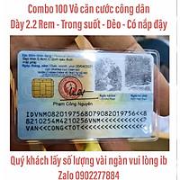 Bao Vỏ Căn Cước ATM, thẻ bảo hiểm xe máy, BHYT, bằng lái xe, thẻ ATM nhựa PVC siêu trong siêu dẻo