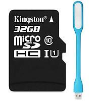 Thẻ Nhớ Micro Kingston SDHC10_SDC10-32GB Class 10 - Hàng chính hãng + Tặng đèn led