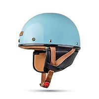 Mũ Bảo hiểm nửa đầu Bulldog Pug đủ màu - Blue