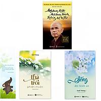 Combo 3 cuốn sách giúp sống an nhiên:  Không Diệt Không Sinh Đừng Sợ Hãi,  Thả Trôi Phiền Muộn, Sống Đời Bình An (Tặng kèm bookmark danh ngôn hình voi)