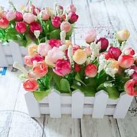 hàng rào hoa nụ giả cực xinh 16cm