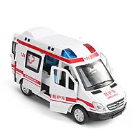 Đồ chơi mô hình xe cứu thương KAVY có nhạc và đèn chạy cót mở được tất cả các cảnh cửa