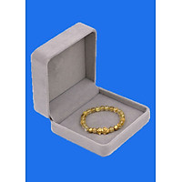 Vòng đeo tay Thạch Anh Tóc vàng 6 ly cẩn Tỳ Hưu inox vàng VTATVTHHBV6 HỘP NHUNG - hợp mệnh Kim, mệnh Thổ