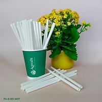 [AgroLife] Hộp 20 ống hút không cắt xéo Phi 8mm - Ống hút giấy từ sợi mía - Bảo vệ môi trường - Hoàn toàn từ thiên nhiên an toàn sức khoẻ