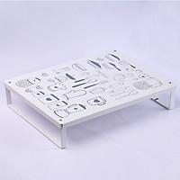 Kệ để nồi chảo và dụng cụ bếp (40x30x8cm)