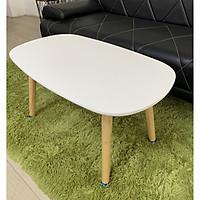 Bàn trà sofa ván MDF KT 75*45*40 màu trắng