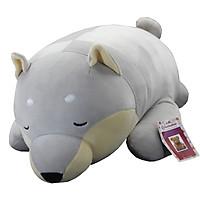 Thú Nhồi Bông Chó Shiba Nằm Ngủ Siêu Đáng Yêu 66 Cm BA00201