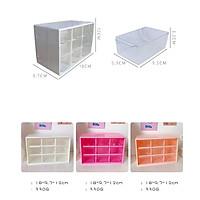 Tủ nhựa đa năng 9 ngăn đựng đồ dùng phụ kiện bàn học, sticker, văn phòng phẩm
