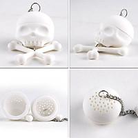 Funny Skull Head Shape Soft Silicone Skull Tea Infuser Loose Tea Leaf Strainer