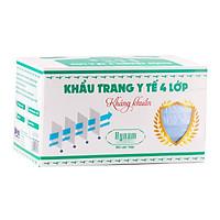Khẩu trang y tế 4 lớp Hynam - Giấy lọc kháng khuẩn (Hiệu suất lọc (BFE) 97%) - (50 cái/ hộp)