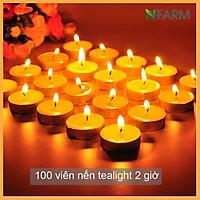 Hộp 100 Viên Nến Tealight Sáp Cọ N'Farm An Toàn Sức Khỏe (2 giờ)/ Dùng kết hợp đèn xông và tinh dầu/ Khử mùi và đuổi côn trùng hiệu quả.