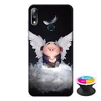 Ốp lưng điện thoại Asus Zenfone Max Pro M2 hình Heo Con Thiên Thần Tình Yêu tặng kèm giá đỡ điện thoại iCase xinh xắn - Hàng chính hãng