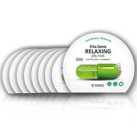 Combo 10 Mặt nạ dưỡng da giúp thư giãn và phục hồi làn da mệt mỏi BNBG Vita Genic Relaxing Jelly Mask (Vitamin B) 30ml x10