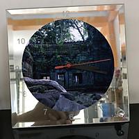 Đồng hồ thủy tinh vuông 20x20 in hình Buddhism - đạo phật (91) . Đồng hồ thủy tinh để bàn trang trí đẹp chủ đề tôn giáo