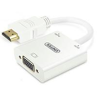 Cáp Chuyển Đổi HDMI Sang VGA  Có Hỗ Trợ Nguồn Và Âm Thanh- Chính Hãng Unitek- Y6333WH