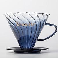Phễu lọc cà phê V60 thủy tinh cao cấp Artisan Tornado Glass Dripper for 1~2cups - Chính hãng Brewista