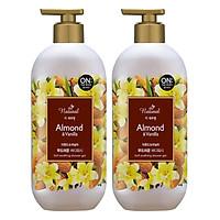 Combo 2 Sữa Tắm On The Body Natural Almond & Vanilla (Hạnh Nhân&Vani) (500g)