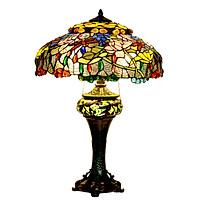 Đèn bàn Tiffany chân Cao Hoa Sen lotus