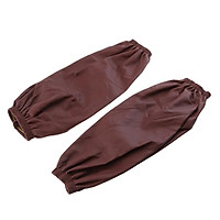1 Pair of Sleeves Leather Waterproof Kitchen Cooking Oversleeve