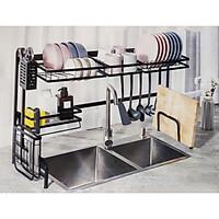 Kệ chén đa năng, giá để bát đũa tiện lợi loại 2 bồn rửa - 85cm