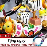 Mô Hình Thuyền Thousand Sunny Mũ Rơm Luffy One Piece Bộ Sưu Tập Đồ Chơi tặng kèm vòng tay Twisty Petz dễ thương
